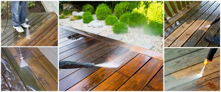 różne sposoby czyszczenia, mycia drewnianych tarasów