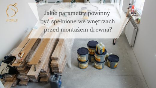podłogi drewniane i kleje na inwestycji przed montażem