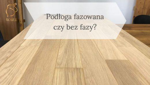 podłoga drewniana z fazowanymi krawędziami