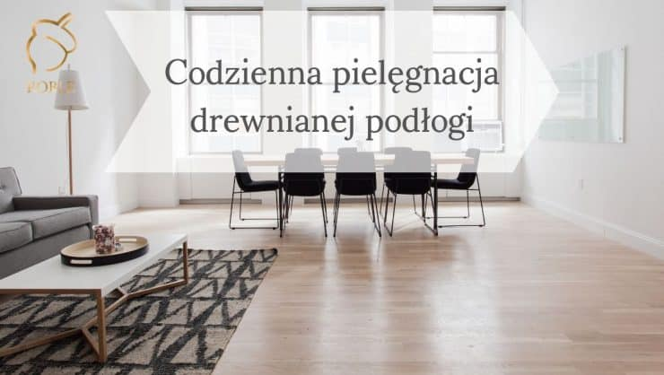 nowoczesne wnętrze z drewnianą podłogą