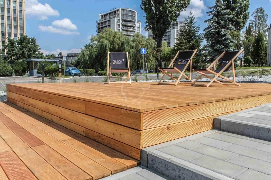 taras drewniany z modrzewia syberyjskiego