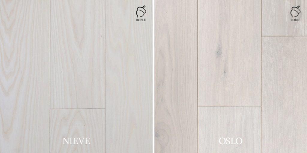 drewniane podłogi jesion i dąb bielony