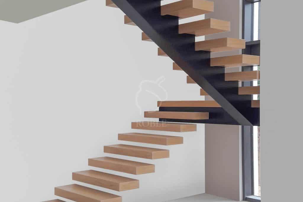 schody samonośne ze spocznkiem