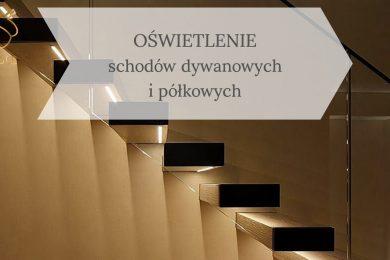 schody półkowe oświetlone LED