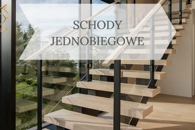 schody drewniane na belce